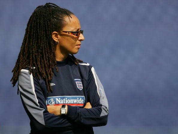 Hope Powell þjálfari Englands.