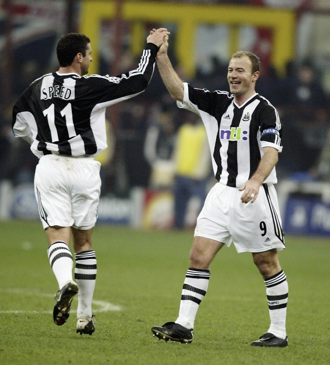 Gary Speed og Alan Shearer.